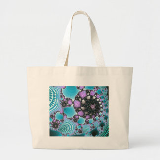 Blue Purple Abstract Design Tote Bag