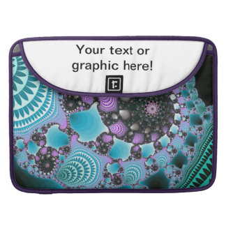 Blue Purple Abstract Design Sleeves For MacBook Pro