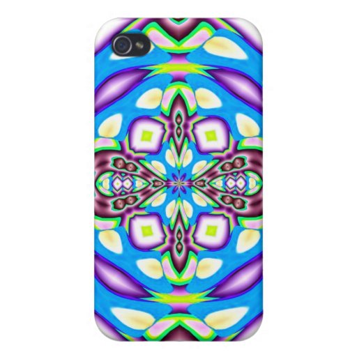 Blue Purple Abstract Design Speck Case iPhone 4 Covers