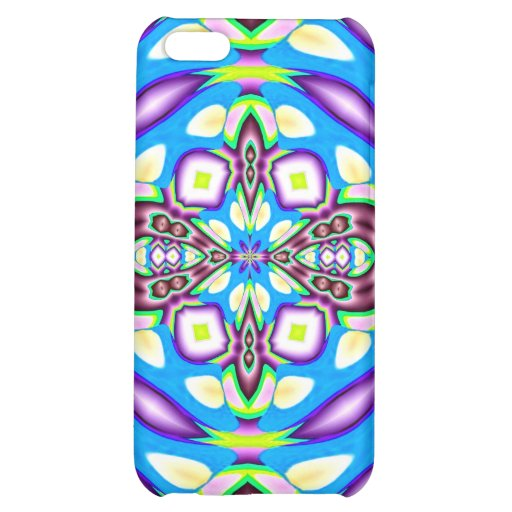 Blue Purple Abstract Design Speck Case iPhone 5C Cover