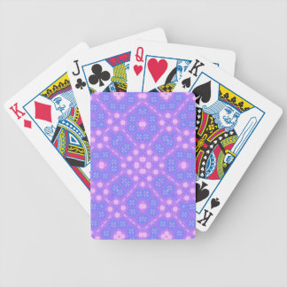 blue purple Abstract Pattern Bicycle Playing Cards