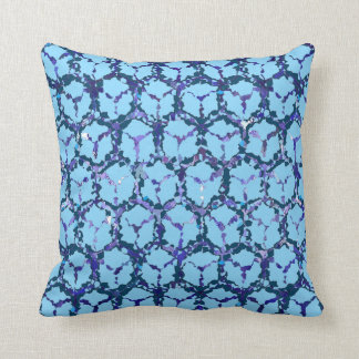 Blue/Purple Abstract Reversible Throw Pillow