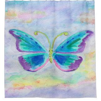 Curtains Ideas butterfly shower curtain : Blue Butterfly Shower Curtains | Zazzle