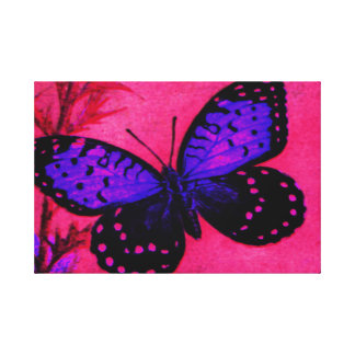 Blue/Purple and Pink REGAL FRITILLARY Gallery Wrapped Canvas