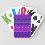 Blue Purple and Pink Stripy Pattern Card Decks