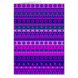 Blue Purple and Pink Stripy Pattern Greeting Cards