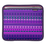 Blue Purple and Pink Stripy Pattern iPad Sleeve