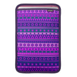 Blue Purple and Pink Stripy Pattern MacBook Air Sleeve