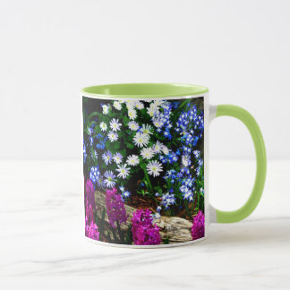 Blue Purple And White Floral Design Products Mug