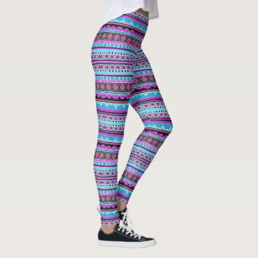 Aztec Themed (blue & purple aztec) leggings