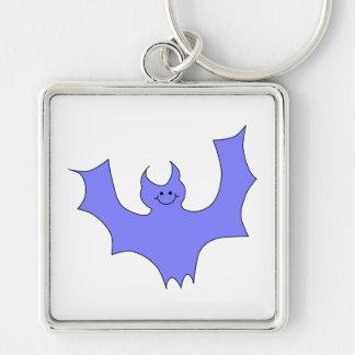 Blue - Purple Bat Cartoon. Keychains