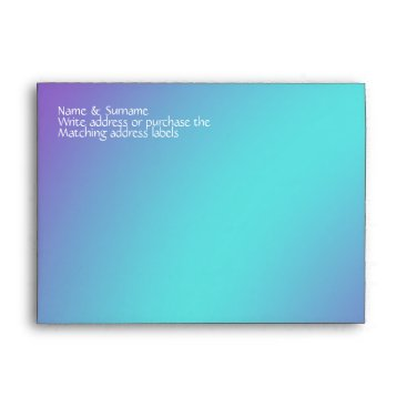 Beach Themed Blue purple beach starfish lilac envelope