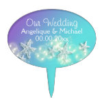 Blue purple beach starfish PERSONALIZE Cake Toppers