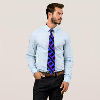 Blue Purple Black Pattern 4Ronald Neck Tie