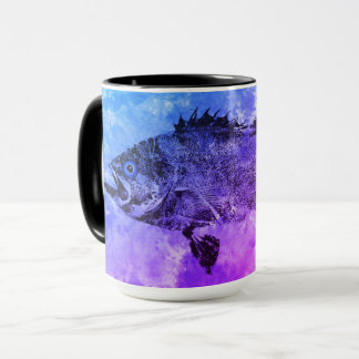Blue & Purple Black Sea Bass – 15 oz.Combo Mug