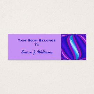 Blue Purple Book Marks Plates Mini Business Card