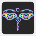 Blue & Purple Buddha Eyes.png Sticker