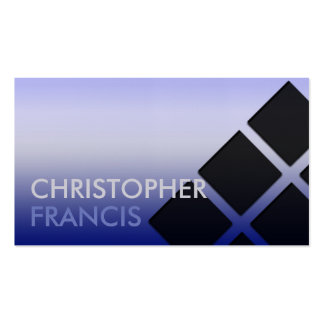 Blue-purple card with square pattern business card