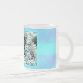 Blue-Purple Cat Mug