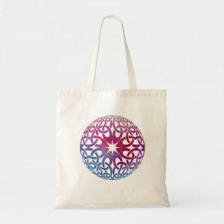 Blue Purple Celtic knot circle Tote Bag