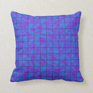 Blue/Purple Chocolate Bar Throw Pillow