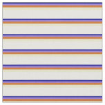 [ Thumbnail: Blue, Purple, Chocolate, Pale Goldenrod & White Fabric ]