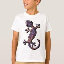 Blue Purple Climbing Gecko Lizard T-Shirt