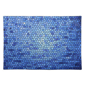 Blue & purple color stained glass pattern cloth place mat