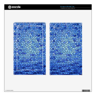 Blue & purple color stained glass pattern skins for kindle fire