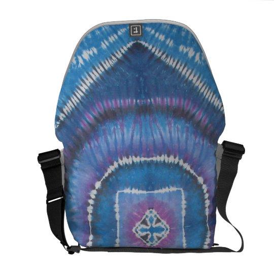 Blue Purple Cool Tie Dye Messenger Bag