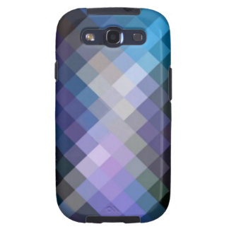 Blue Purple Cube Pattern Samsung Galaxy S3 Case