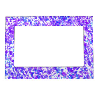 Blue Purple Digital Abstract Pattern Photo Frame Magnet