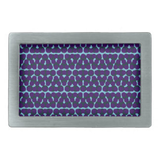 Blue Purple Dot Design Rectangle Buckle Rectangular Belt Buckle