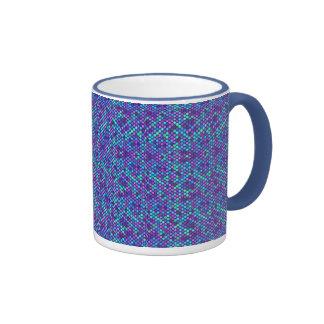 blue purple dots coffee mugs