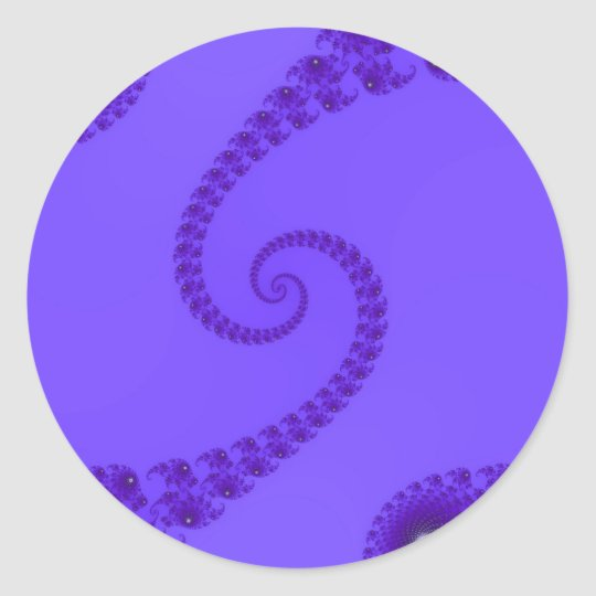 Blue Purple Double Spiral Stickers