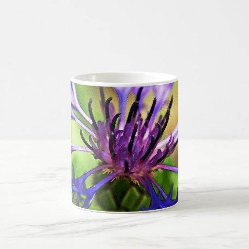 Blue Purple Flower Classic White Coffee Mug
