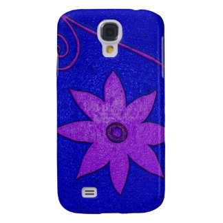 blue purple flower galaxy s4 case