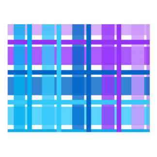 Blue & Purple Gingham Plaid Postcard