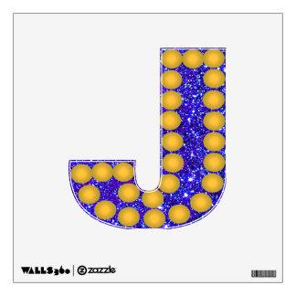 Blue-Purple Glitter Sparkle Wall Decal 2 Letter J