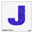 Blue-Purple Glitter Sparkle Wall Decal Letter Abcs
