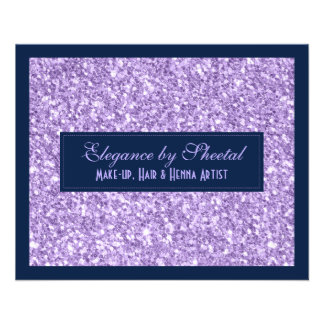Blue & Purple Glitter Texture Print Flyer