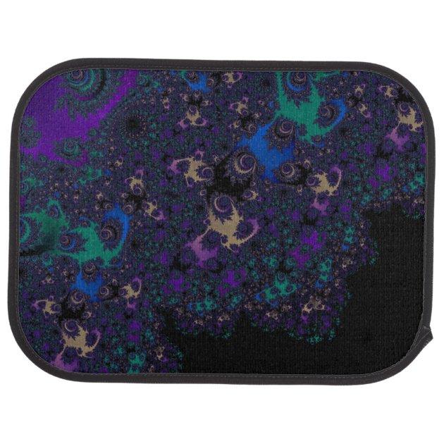 Blue Purple Gold Black Fractal Lace Car Floor Mat Zazzle