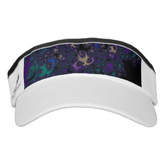 Blue Purple Gold Black Fractal Lace Visor