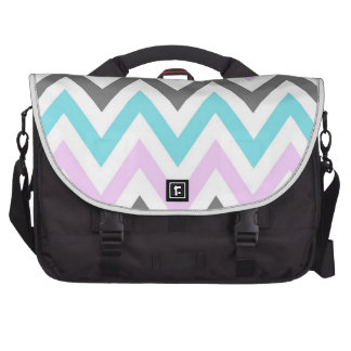 Blue,Purple,Gray and White Zigzags Commuter Bag
