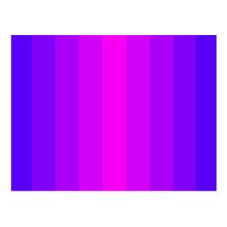 Blue Purple Happy Design Fun Pretty Spectrum Bold Postcard