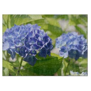 Blue Purple Hydrangea Cutting Board