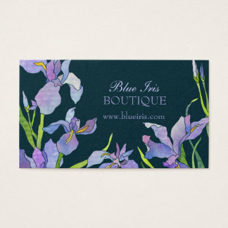 Blue Purple Iris Business Appointment Cards