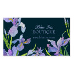 Blue, Purple Iris Business Appointment Cards Double-Sided Standard Business Cards (Pack Of 100)