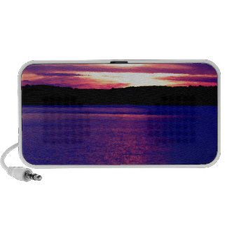 Blue Purple Lake Magical Sunset Pretty Peaceful Travelling Speaker