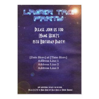 Blue & Purple Laser Tag Invite